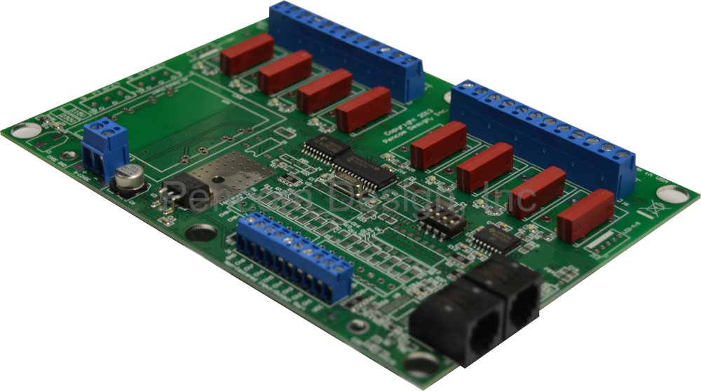 8 Channel RS232 Reed Relay Board W/IO and W/DC Power Terminal Block